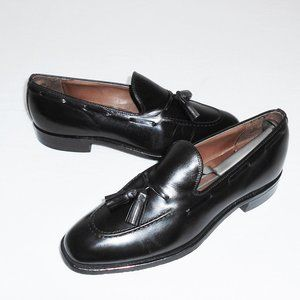 Bostonian Black Leather Tassel Loafer Men 8.5 C/A
